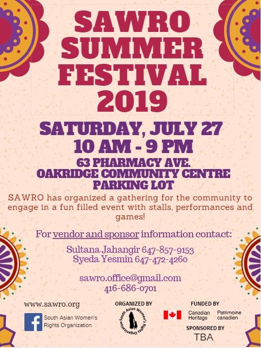 SAWRO Summer Festival!